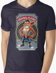 Crash Bandicoot Original Player Mens V-Neck T-Shirt