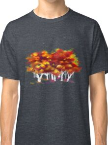 Red Forest in Winter Classic T-Shirt