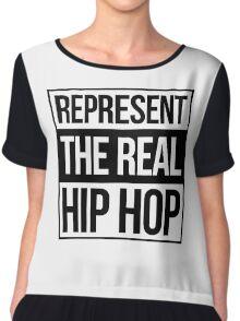 Represent the Real Hip Hop - Black Chiffon Top