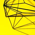 Minimalist Yellow Geometry - Photograph by pixelspin