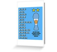 Argentina 1986 World Cup Final Winners Greeting Card