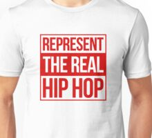 Represent the Real Hip Hop - Red Unisex T-Shirt