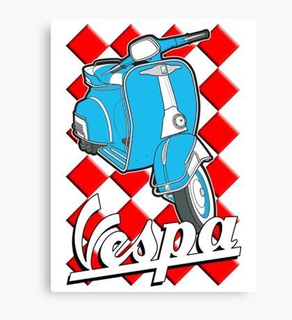 Funny Vespa Chequer Board Canvas Print