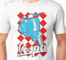 Funny Vespa Chequer Board Unisex T-Shirt