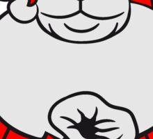santa claus christmas nicholas winter gifts Santa Claus beard old polar bear sack Sticker