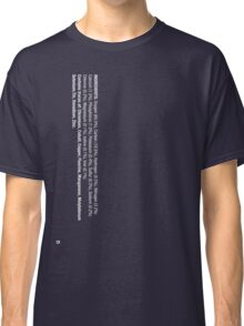 ingredients: (white version) Classic T-Shirt