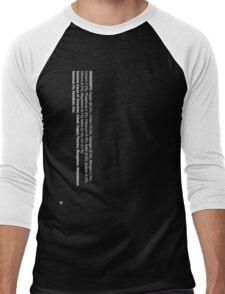 ingredients: (white version) Men's Baseball ¾ T-Shirt
