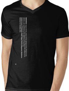ingredients: (white version) Mens V-Neck T-Shirt