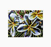 Bright Frangipani Flower Fractal Unisex T-Shirt