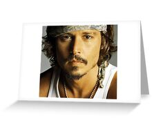 Johnny Depp Greeting Card