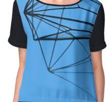 Minimalist Blue Geometry - Photograph Chiffon Top