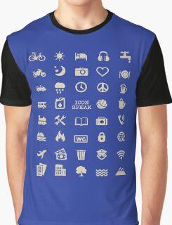 Cool Traveller T-shirt - Iconspeak T-shirt - 40 Travel Icons Graphic T-Shirt