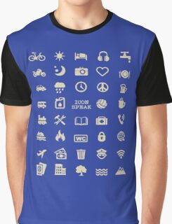Cool Traveller T-shirt - Iconspeak T-shirt - 40 Travel Icons Graphic T-Shirt