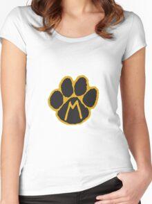 MIZ Pawprint  Women's Fitted Scoop T-Shirt