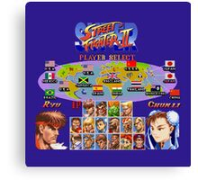 Super Street Fighter II Canvas Print