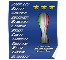 Italy 1982 World Cup Final Winners Poster