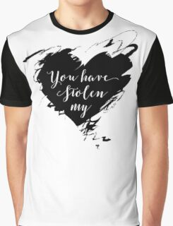 """Stolen"" by Dashboard Confessional (Black) Graphic T-Shirt"