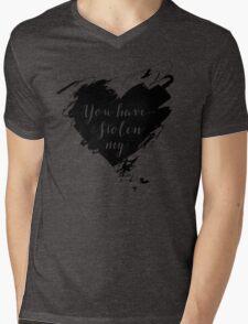 """""""Stolen"""" by Dashboard Confessional (Black) Mens V-Neck T-Shirt"""
