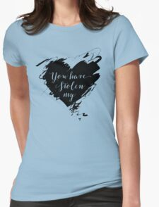 """""""Stolen"""" by Dashboard Confessional (Black) Womens Fitted T-Shirt"""