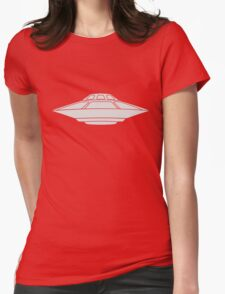 UFO Flying Saucer Spaceship  Womens Fitted T-Shirt