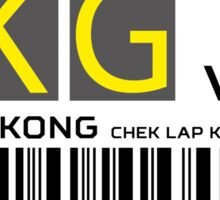 Destination Hong Kong Airport Sticker