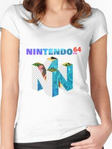 Vaporwave Nintendo 64 Women's Fitted Scoop T-Shirt