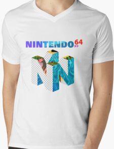 Vaporwave Nintendo 64 Mens V-Neck T-Shirt