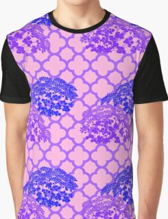 Pink and Purple Abstract Pattern Graphic T-Shirt