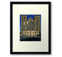 West Front, Ripon Cathedral, late evening Framed Print