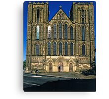 West Front, Ripon Cathedral, late evening Canvas Print