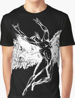 ICARUS THROWS THE HORNS - solid white NEW DESIGN Graphic T-Shirt
