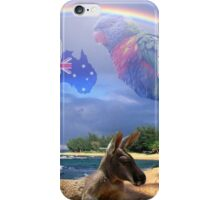 Kangaroo and Lorikeet iPhone Case/Skin