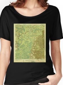 USGS TOPO Map Alabama AL Tensaw 305711 1944 62500 Women's Relaxed Fit T-Shirt