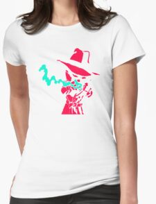 Smoke Calvin And Hobbes Womens Fitted T-Shirt