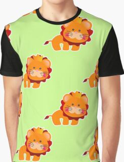 baby pattern with a cute little lion Graphic T-Shirt