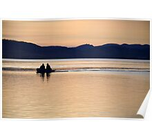 Evening boating Poster