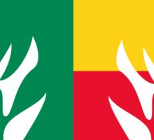 Benin Flag Eagle Sticker
