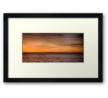 Kayakers at Dawn Framed Print