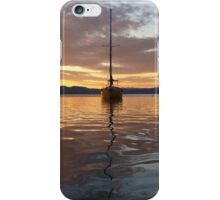 yacht in the sunset iPhone Case/Skin