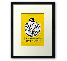 BJJ state of mind 2 Framed Print