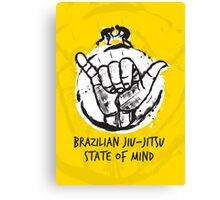 BJJ state of mind 2 Canvas Print