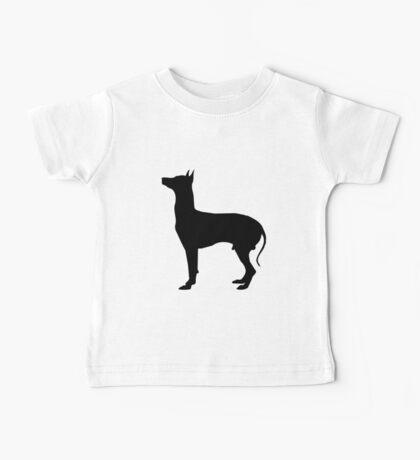 Gray hound dog silhouette Baby Tee
