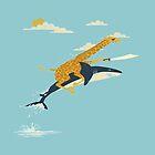 Giraffe riding shark  by Natgeoo