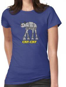 Robot Cat Womens Fitted T-Shirt