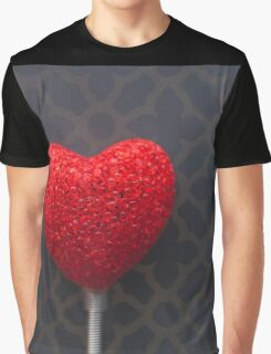 Heart with Gold Pattern Graphic T-Shirt