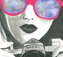 Camera Girl Sticker