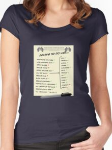 John McClane's To Do List Women's Fitted Scoop T-Shirt