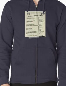 John McClane's To Do List Zipped Hoodie