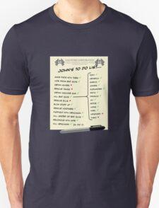 John McClane's To Do List Unisex T-Shirt