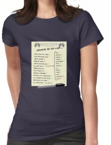 John McClane's To Do List Womens Fitted T-Shirt